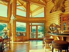 Imagine waking up to these stunning views from this June Lake #cabin home. #dreamview
