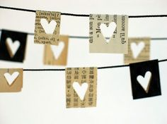 heart cut-out garland