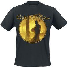 """Classica T-Shirt uomo nera """"I Worship Chaos"""" dei #ChildrenOfBodom con scollo tondo e stampa su fronte e retro."""