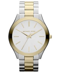 would someone like to get me the perfect present? Michael Kors Two-Tone Stainless Steel Bracelet Watch MK3198
