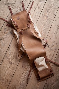 Leather and canvas backpack #078 on Behance