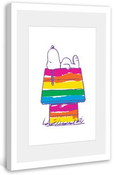 Snoopy's Rainbow House Peanuts Framed Painting Print