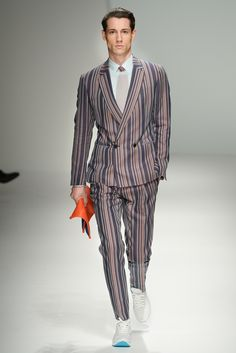 Now these are a fresh take on rocking a pinstripe suit :)