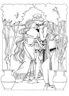 princess coloring pages see more icolor princesses i prinsessen kleurplaat embraced by handsome