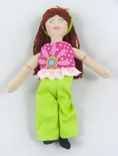 Dress Up Doll with Red Hair by JoellesDolls on Etsy