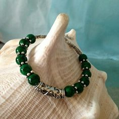 "Jade Bracelet $10  To place an order, visit our Facebook page ""Moonsong Jewellery"" or email moonsongjewellery@gmail.com"