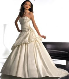 $258.81 Sweetheart Neckline Waistline and A-line Pleated princess princess wedding dresses