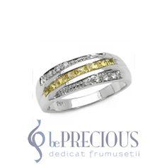 Inel cu Safire galbene si Diamante Temptation Wedding Rings, Engagement Rings, Jewelry, Diamond, Rings For Engagement, Jewellery Making, Jewels, Wedding Ring, Commitment Rings