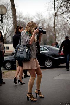 Fashion Trend Paris #socks #heels