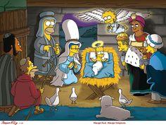 The Simpson the Nativity scene The Simpsons Homer Simpson Marge Simpson Bart Simpson Lisa Simpson Homer Simpson, Lisa Simpson, The Simpsons, Simpsons Episodes, Simpsons Quotes, Simpsons Springfield, A Christmas Story, Merry Christmas, Christmas Nativity
