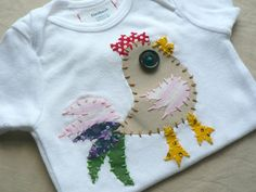 Rooster Applique Onesie Custom Size and Colors by ohmelisa on Etsy, $22.00