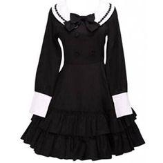 Partiss Women Cotton Black Ruffles Long Sleeves School Lolita Dress, M, 2 Partiss http://www.amazon.co.uk/dp/B0158IFBDO/ref=cm_sw_r_pi_dp_AR35wb0T3N2RA