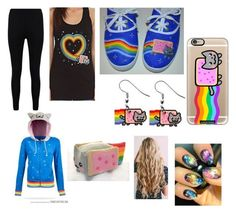 """""""Nyan Cat Madness!"""" by hey-girl-hey-1215 on Polyvore featuring Casetify and Boohoo"""