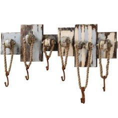 Amazon.com: Nautical Rope Hooks Pool House Towel Holder 7 Wall Hook Rack: Furniture & Decor
