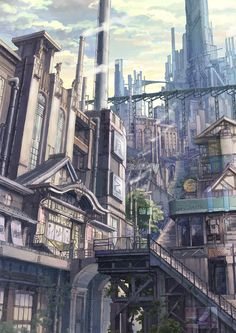 Zerochan has 46 Kanehira anime images, Android/iPhone wallpapers, and many more in its gallery. Fantasy City, Fantasy Places, Fantasy World, Fantasy Landscape, Landscape Art, Steampunk City, Animation Background, Science Fiction Art, Environment Design