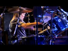 Nicko McBrain.  1. It's The Trooper  2. He's using a 5 pc. with single Bass Pedal  3. The tempo on the track shifts and he keeps with it.   4. 2:01 - etc.  5. ZOMG 6. he plays barefoot
