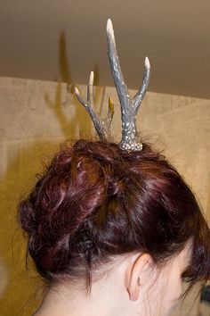 DIY Antlers! Wearing to an Ugly Sweater Party fo sho