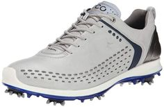 ECCO Men's Biom Golf Shoe Leather upper with padded tongue and collar Silicon-printed insole for stability Placed spikes for grip and traction Diabetic Shoes For Men, Mens Golf Fashion, Cheap Golf Clubs, Golf Gps Watch, Golf Pride Grips, Golf Shoes, Shoes Men, Golf Tips, Fashion Shoes