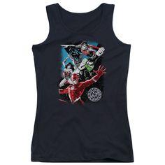 Justice League of America - Galactic Attack Junior Tank Top