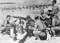 Legionarios durante la Guerra Civil. Mérida