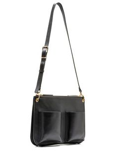 Bandolier bag in calfskin with two separate pockets