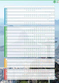 Le calendrier des Jeux olympiques de Rio 2016