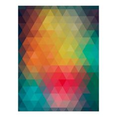 Shop Awesome cool trendy colourful triangles pattern poster created by InovArtS. Interior Wall Colors, Wall Colours, Interior Walls, Triangle Pattern, Corner Designs, Holiday Photos, Colour Images, Custom Posters, Triangles