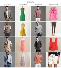 "What to wear for engagement sessions Liu Bright . you and Jessie should start thinking about what outfits will look good together and will ""pop"" against the blue of the ocean Engagement Photo Outfits, Engagement Photo Inspiration, Engagement Couple, Engagement Pictures, Engagement Session, Engagements, Picture Outfits, Couple Outfits, Family Outfits"