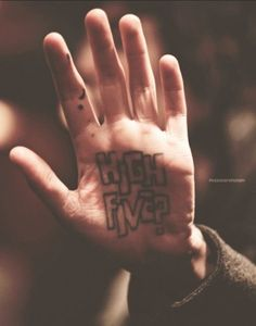 Ink Oliver Sykes. My life goal is to high five his tattoo.