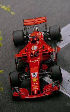 Sebastian Vettel, Ferrari Photo by Sutton Images on April 2018 at Azerbaijan GP. Formula One World Championship photos. Ferrari Racing, F1 Racing, Drag Racing, Grand Prix, Nascar, Stock Car, Gp F1, Ferrari Scuderia, Formula 1 Car