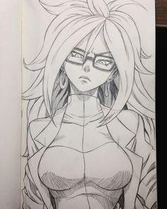 "Dzo sur Twitter : ""Mandatory #Android21 from #DragonballFighterZ! Love her design! #c21 #cyborg #redribbon #dragonballz #dbz #doodle #drawing #sketch #pencil https://t.co/UpXzQXaO4Z"""