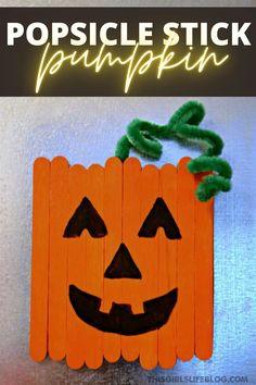 Kids Crafts, Fall Crafts For Kids, Thanksgiving Crafts, Craft Stick Crafts, Preschool Crafts, Holiday Crafts, Craft Ideas, Halloween Crafts Kindergarten, Halloween Crafts For Preschoolers