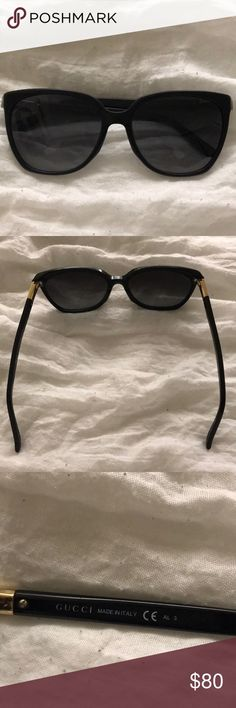 Gucci sunglasses Authentic GUCCI sunglasses that have lived a good life! Used- lenses are pretty scratched up. A little big & loose for my head (however, I do have a small head) The original price paid was around $400 more or less. Will take best offer Gucci Accessories Sunglasses