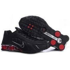 huge selection of bb2bc ed6e6 104265 076 Nike Shox R4 Black Red J09129 Mens Nike Shox, Nike Shox Shoes,