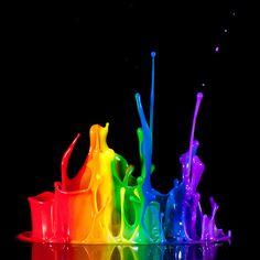 Color Paint --- rainbows! :D