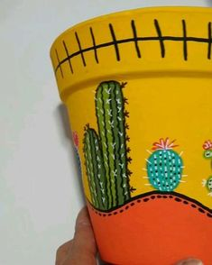 Terra, Ideas Para, Decoupage, Stencils, Planter Pots, Diy, Painting, Painted Pottery, Vase Crafts