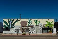 Jonas Wood, 2014, LAXART Facade, LAXART, Los Angeles, CA, Installation view