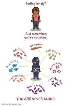 Your bacteria friends have your back... somehow I am not comforted.