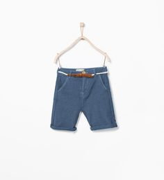 ZARA - KIDS - Shorts with contrast belt