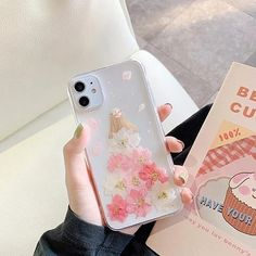 Real Dried Flower Phone Case for iPhone 11 7 8 Plus Transparent Soft T – Touchy Style