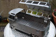 The Busbecue by Chicken Shed Creations - Hand crafted in the UK, bespoke portable bbq, great for any occasion. The VW Inspired Barbecue. Fire Pit Bbq, Diy Fire Pit, Fire Pits, Combi Ww, Wood Cooler, Chicken Shed, Portable Fireplace, Brick Bbq, Portable Bbq