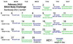february bikini body challenge