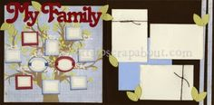 My Family Scrapbook Page Kit