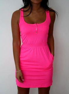 little summer dress with pockets!! Love the color