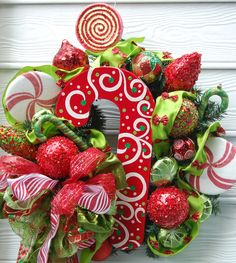 Candy for Christmas Wreath. $150.00, via Etsy.