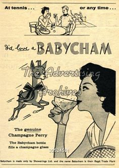 Babycham - when it was still legal to call it Champagne