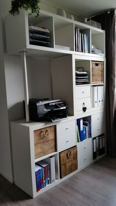 The combination of the storage racks KALLAX IKEA