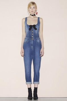 A polished take on overalls–add a bow, some buttons and a silhouette