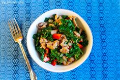 Sausage and Kale Sauté is a quick and easy paleo recipe that only requires four ingredients!