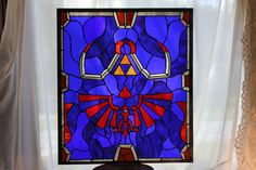 Link's Hylian Shield in Real Stained Glass